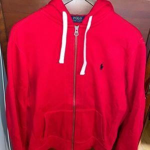 Ralph Lauren polo fleece full zip hoodie
